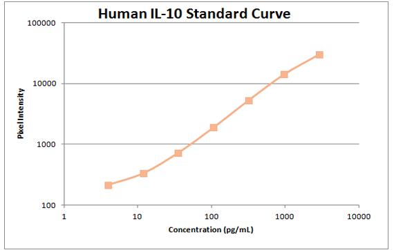 Human il-10 Standard Curve