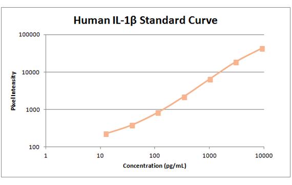 human il1b standard curve