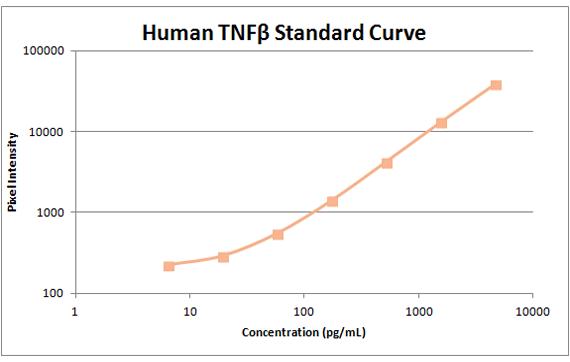human tnfb standard curve