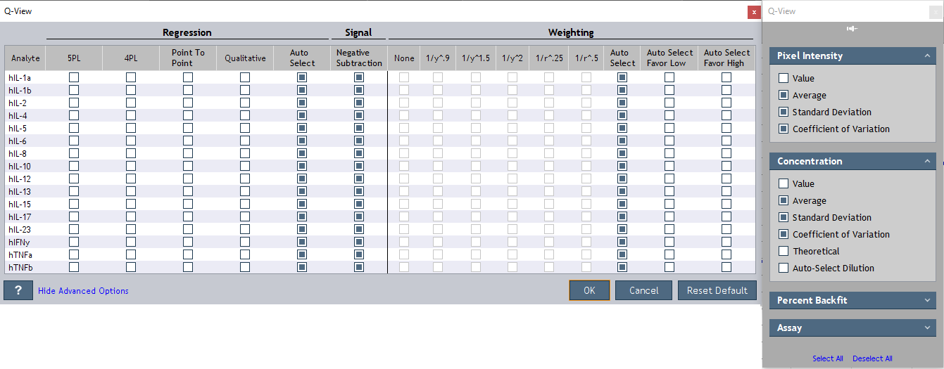 Q-View Software Data Analysis Template